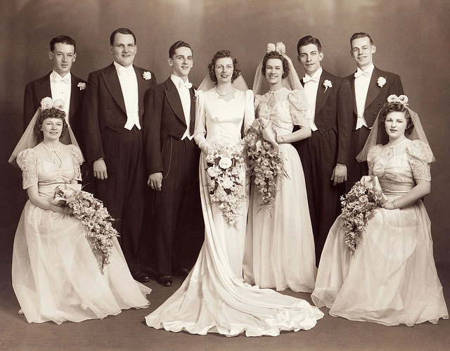 1940s Wedding Group