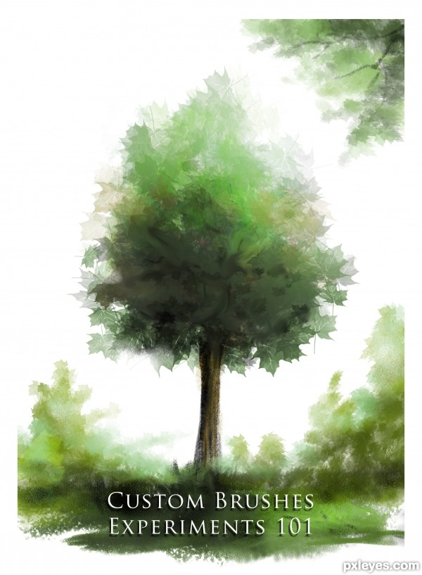 Create Beautiful Custom Brushes for Painting Trees Final Image