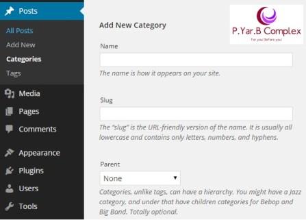 Create Category in WordPress