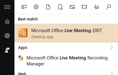 Microsoft Office Live Meeting for Webinar