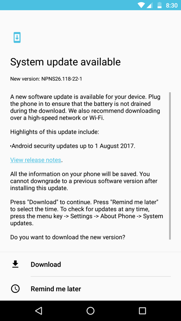 Update for Moto Z Play – NPNS26.118-22-1 Available in India