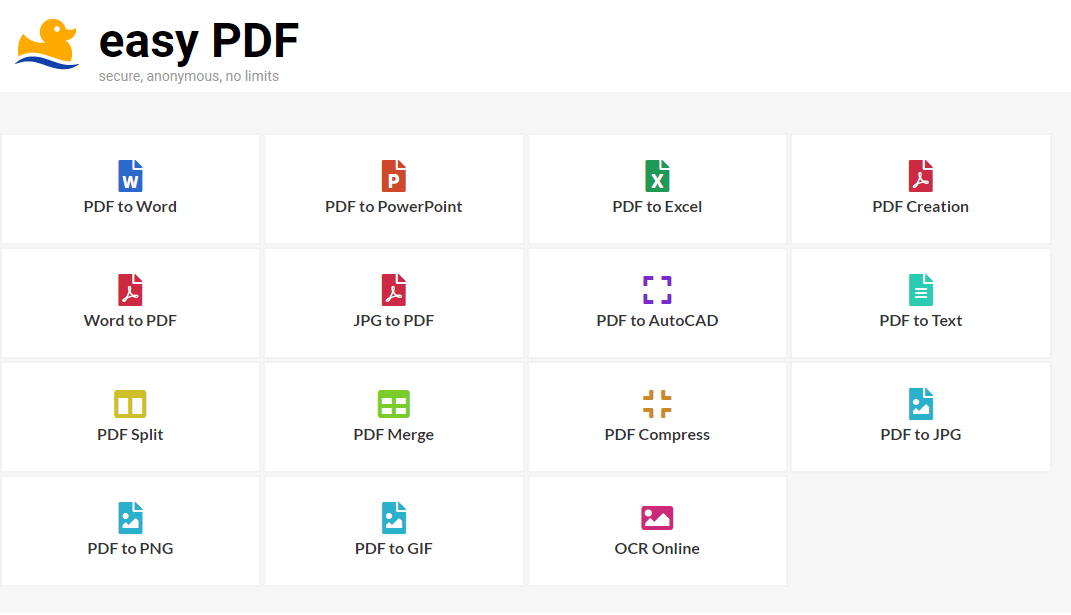 Software Review : EasyPDF PDF Suite, Anonymous & Free