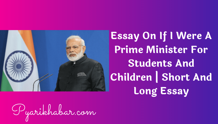Essay On If I Were A Prime Minister