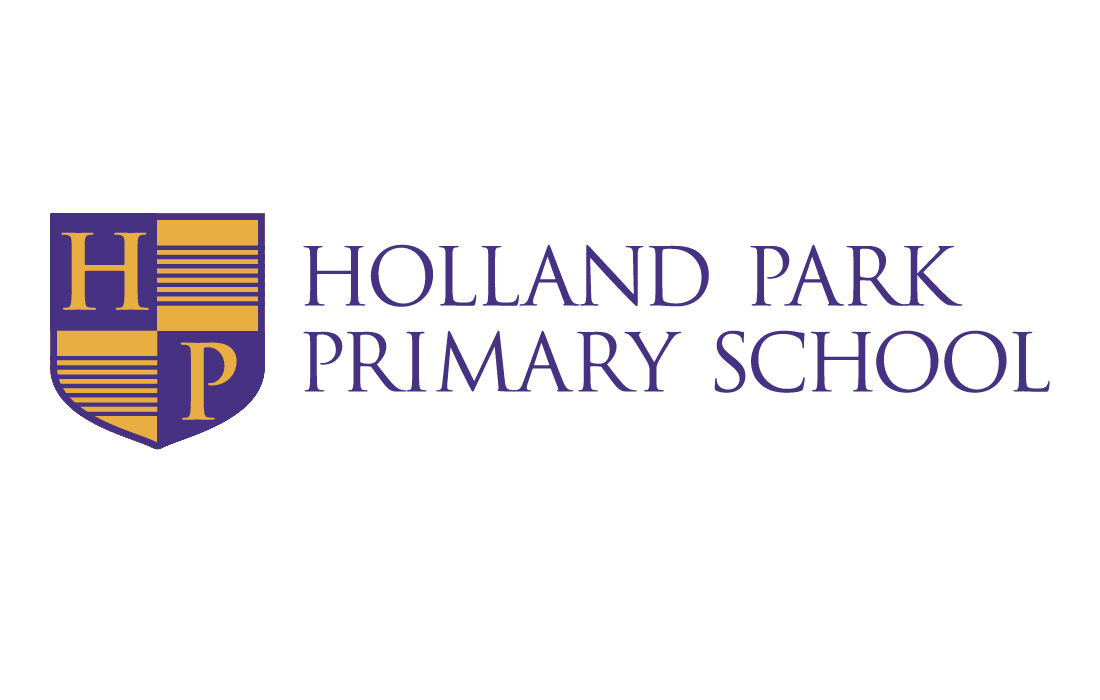 A refreshed logo for Holland Park Primary School by Pylon Design