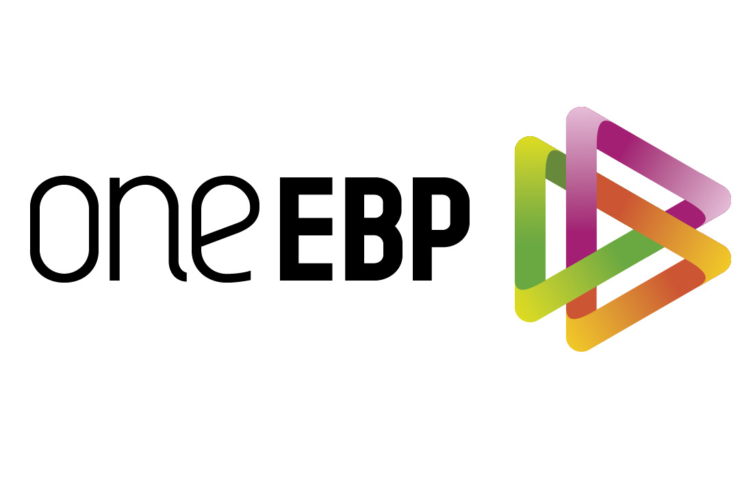 Colourful, crisp logo for oneEBP by Pylon Design