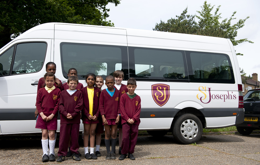 St Joseph's Federation branded minibus by Pylon Design