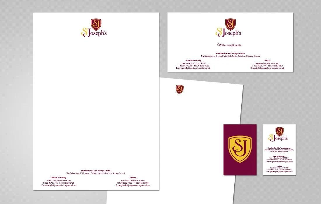 An elegant stationery solution for St Joseph's Federation by Pylon Design