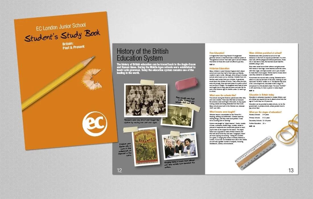 Educational, student workbook for EC London