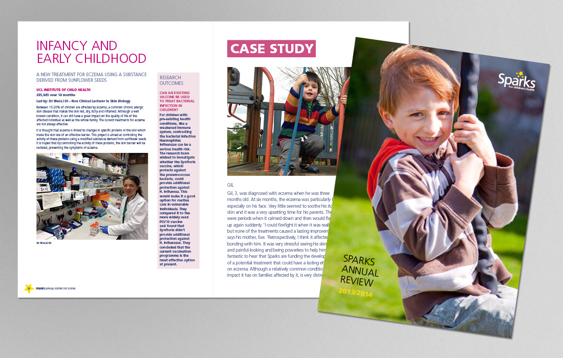 Corporate Annual Review for Sparks by Pylon Design