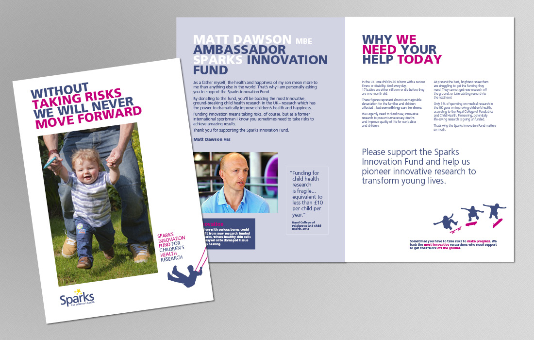 Innovation Fund campaign brochure for Sparks by Pylon Design