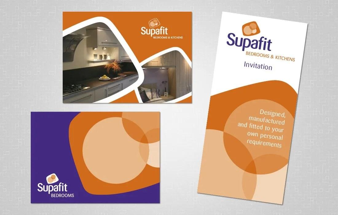 Supafit postcards and invitation for Pylon Design