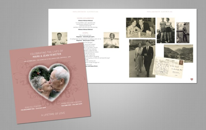 In Loving Memory Funeral Booklet