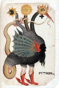 Alchemical Imagery: Mercurious as a Three-Headed Dragon