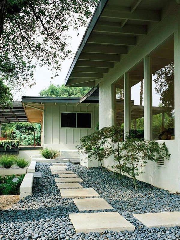 japanese inspired modern stone garden