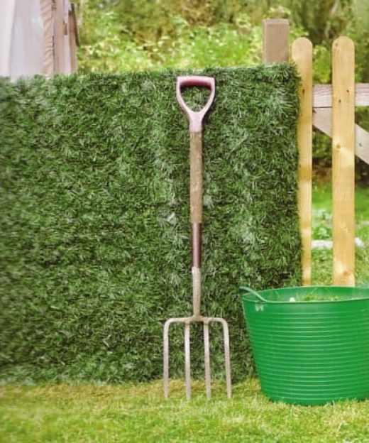 artificial conifer hedge