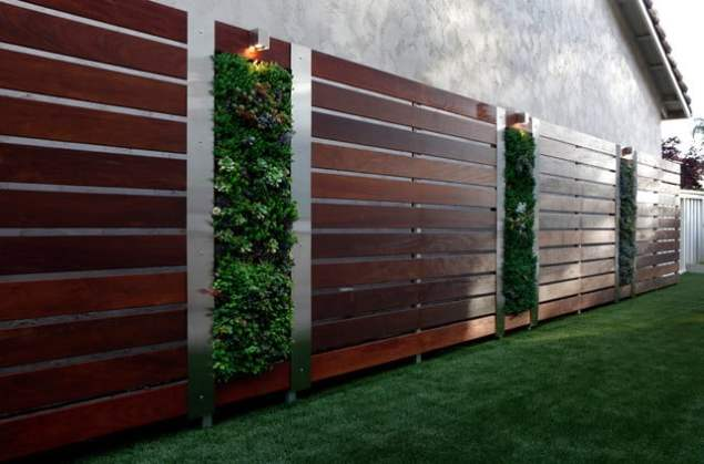 fence screening with living wall
