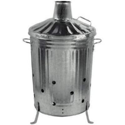 galvanised steel garden incinerator