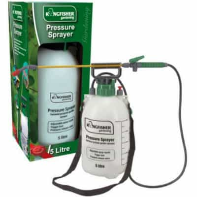 kingfisher 5l pressure sprayer, ideal for gardeners who want to spray the drive way a couple of times a year or spray a couple of time a year in the gardener. A good quality product but professionals would be better looking for a better more robust product.
