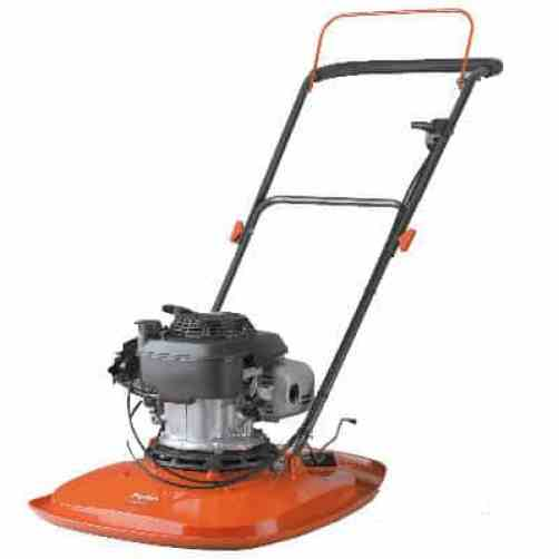 The Fymo petrol lawnmower is there only petrol model and has a 50.5cm cutting blade which is powered by a powerful 160cc (5.5hp) Honda engine. Ideal for slopes and mowing areas not suitable for electric. Will cut the toughest, longest grass. Very heavy at 20kg which can be a issue for some gardeners all though a wheel kit is available.