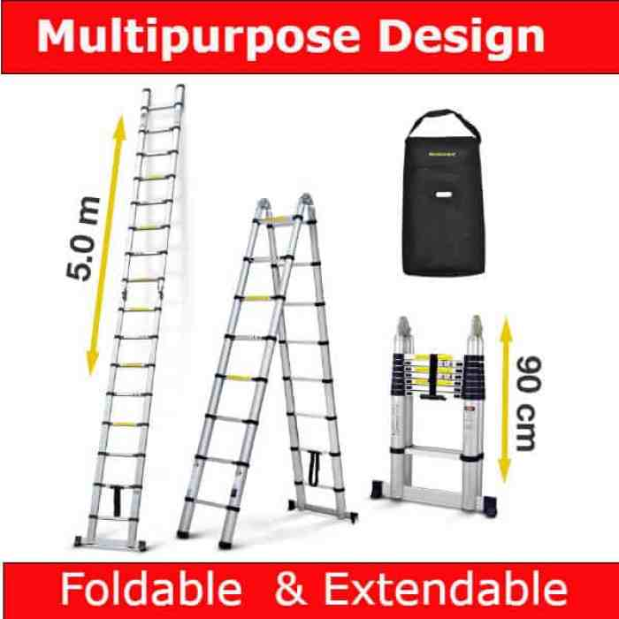 Best Telescopic Ladder for Trade - Nordstrand 5m Telescopic Multipurpose Ladder Review