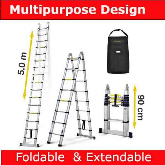 Best Telescopic Ladder for Trade - Nordstrand 5m Telescopic Multipurpose Ladder Review