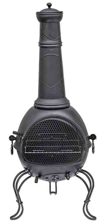 La Hacienda 56063B 136cm XL Murcia Steel Chiminea with Grill review