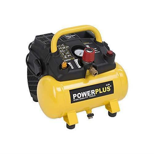 Powerplus 6 Litre, 1.5HP Portable Air Compressor
