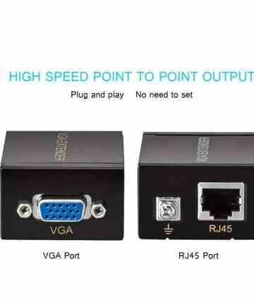 Computer Accessories Vga signal extender 60m, single ethernet cable, wds [tag]