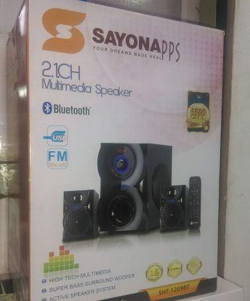 Electronics Sayona sht-1209bt 2.1ch subwoofer 5500w pmpo bluetooth/usb/fm [tag]