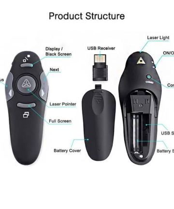 Computer Accessories Wireless Presenter with Laser pointer [tag]