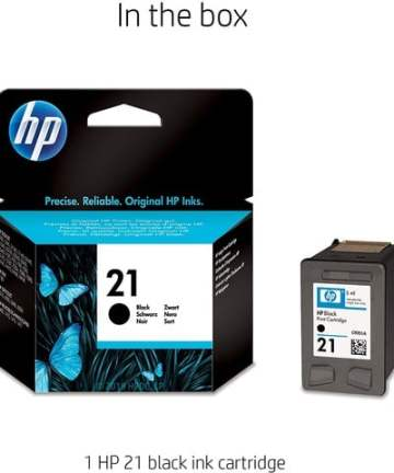 Printers & Accessories HP 21 Black Original Ink Cartridge [tag]