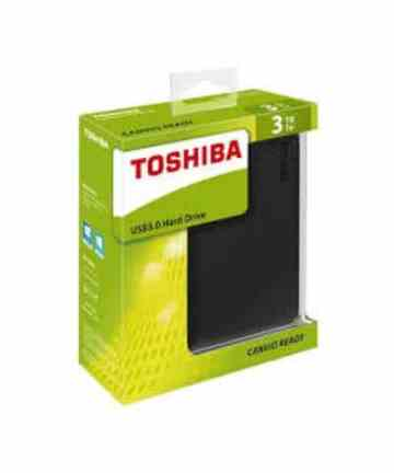 Computer Data Storage Toshiba Canvio Basics – External Hard Drive – USB 3.0 – 3TB – Black_ [tag]