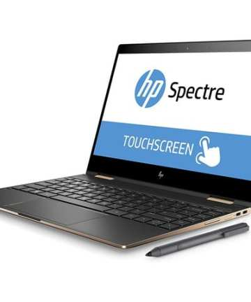 "2 in 1 Hp Spectre X360 13-AE013DX Intel Core i7-8th gen 16GB RAM 512GB SSD WIN-10 Home 13.3"" 4K GORILLA GLASS Touch Screen [tag]"
