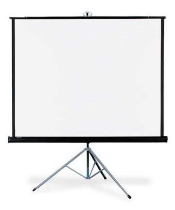 Electronics MANUAL PULL-DOWN PROJECTION SCREEN | 84 X 84 INCHES [tag]