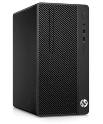 Complete Desktops HP 290 G2 Micro Tower PC- Intel Pentium-4GB RAM-500GB HDD-8500, 3.4GHz, 18.5 Inch, Eng Keyboard, DOS, Black [tag]