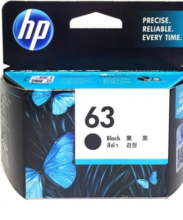 Printers & Accessories HP 63 Black Original Ink Cartridge [tag]