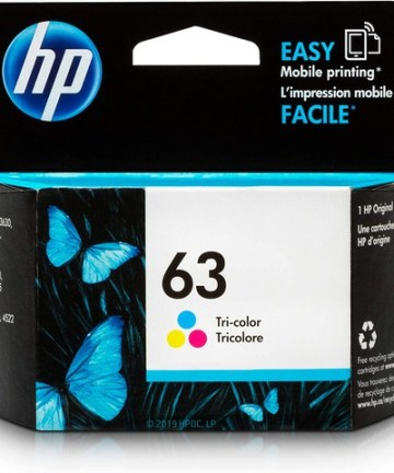 Printers & Accessories HP 63 Colour Original Ink Cartridge [tag]