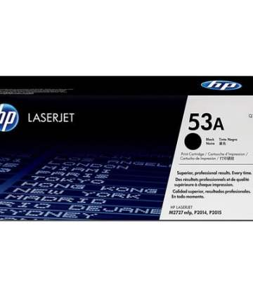 Printers & Accessories HP 53A (Q7553A) Black Original LaserJet Toner Cartridge [tag]