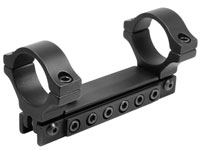 "BKL 1-Pc Adjustable Scope Mount, 1"" Rings, 3/8"" Dovetail, Black"