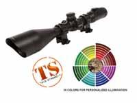 UTG Accushot 4-16x56 AO Rifle Scope, SWAT, EZ-TAP, Illuminated Etched-Glass Mil-Dot Reticle, 1/8 MOA, 30mm Tube, Twist-Lock See-Thru Weaver/Picatinny Rings