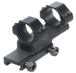 """Leapers Accushot 1-Pc Offset Mount w/1"""" Rings, Weaver/Picatinny Mount"""