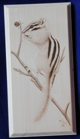 chipmunk wood burning pyrography bmj