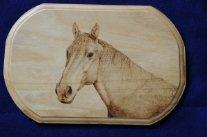 horse wood burning pyrography by bmj