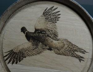 pyrography pheasant