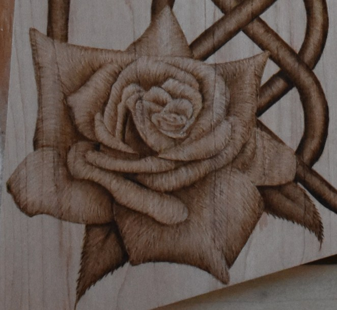 Pyrography Tutorial Stylized Rose techniques for beginners - Pyrography Made Easy