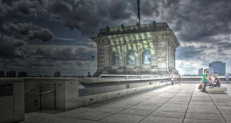 Blick von der Reichstagsterrasse - ein wenig überdrehter.