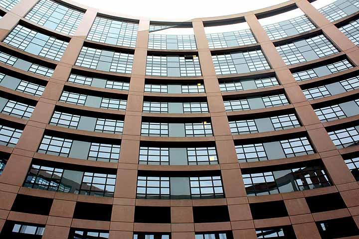 Bürokomplex am europäischen Parlament in Straßburg.