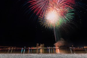 Destin, Florida, Harborwalk, Emerald Grande, Pyro Shows