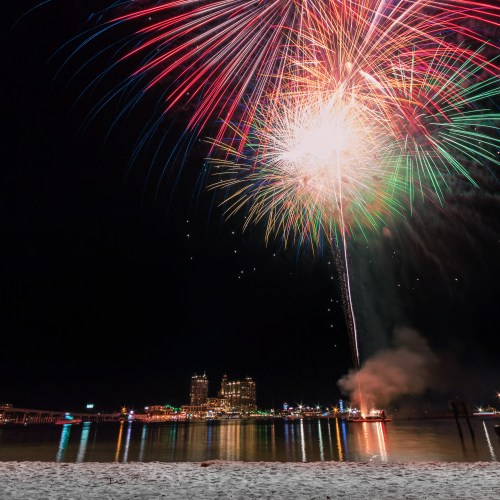 Destin, Florida, Harborwalk, Emerald Grande, Pyro Shows