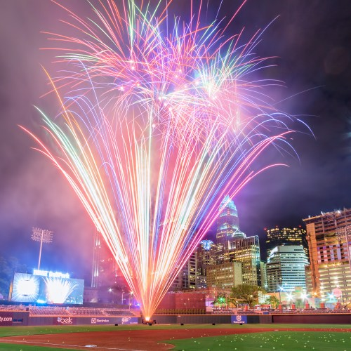 Pyro Shows, Charlotte Knights, Baseball Fireworks, Garrett Hill